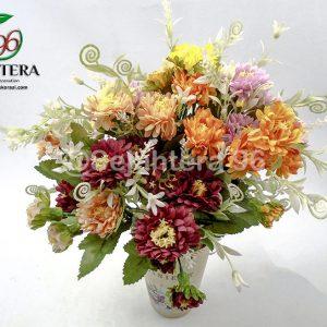 bunga krisan mini plasik