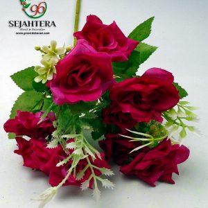 rose star artificial cabang 5 warna merah