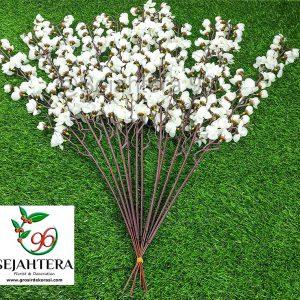 bunga plastik sakura putih