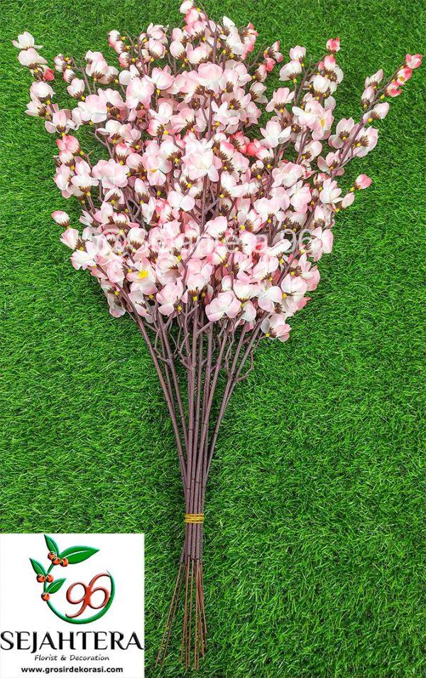 bunga plastik sakura pink