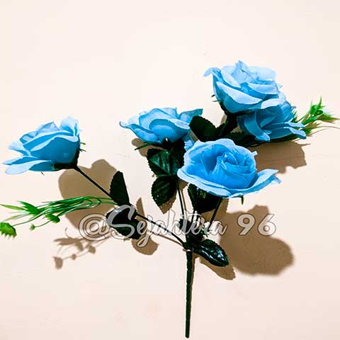 bunga rose sj biru