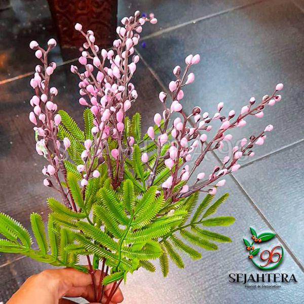 Aksesoris kapas cabang 5 Pink