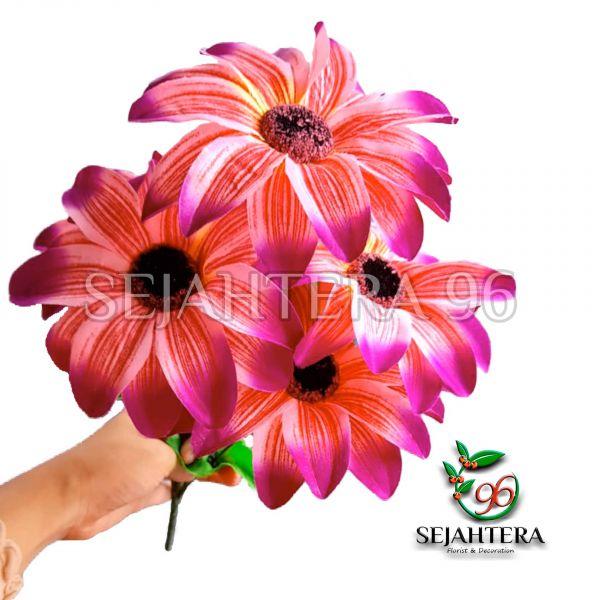 Bunga Amarilis X5 Merah Fanta