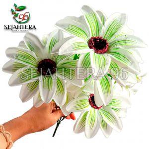 Bunga Amarilis X5 Putih