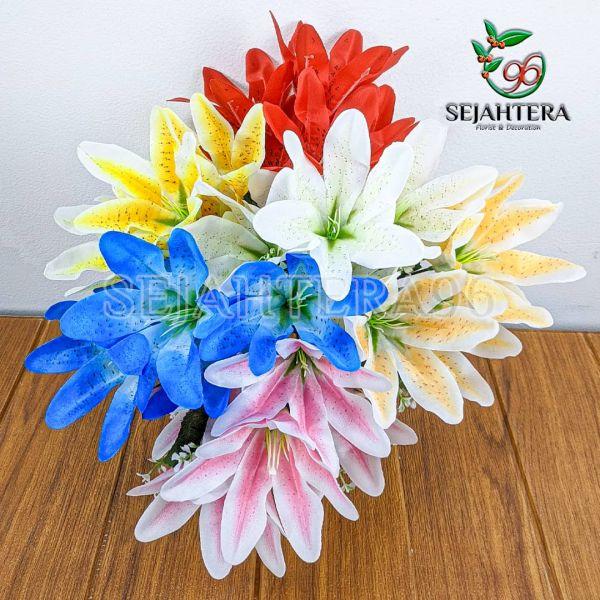 Bunga Lily Mini Cabang 5 Artificial