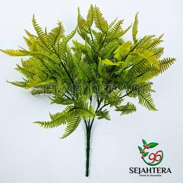 Daun putri malu cabang 5 hijau list kuning
