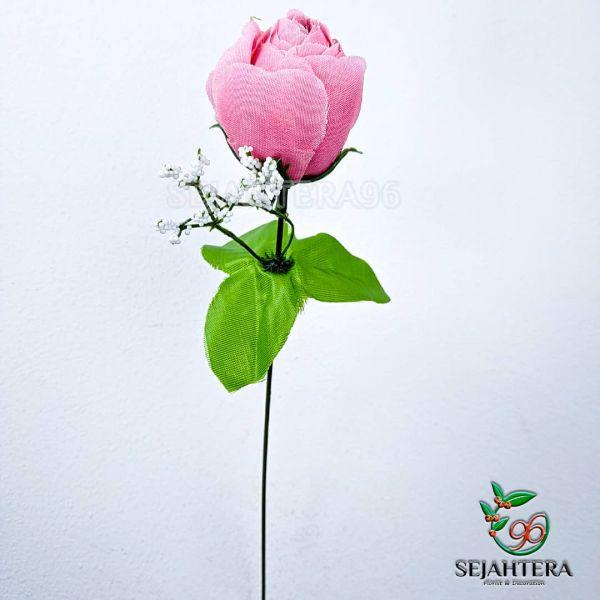 Rose Bola 1 Tangkaian Pink