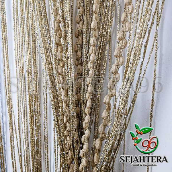 Tirai Glitter Monte 1x2 meter Gold